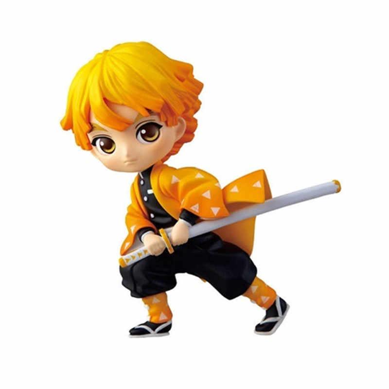 2019 Anime Model Patung Demon Slayer Kimetsu Tidak Yaiba Q Posket Hashibira Inosuke Tomioka Giyuu Kamado Tanjirou Figurine Mainan