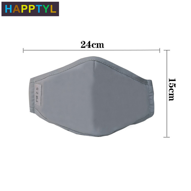 HAPPTYL Cotton PM2.5 Black mouth Mask Activated carbon filter Mouth-muffle Face masks Care 1