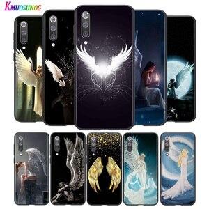 Яркий черный чехол с крыльями ангела для Xiaomi Mi Poco M2 Note 10 9 8 Pro Play Mix 3 F1 Lite 5G чехол для телефона