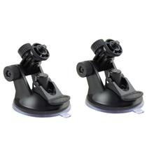 2pcs Plastic Black Car DVR Holder DV GPS Camera Stand