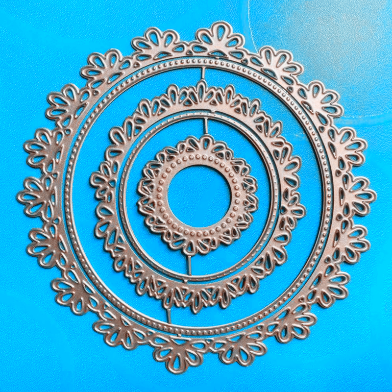 YINISE SCRAPBOOK Metal Cutting Dies For Scrapbooking Stencils LACE FLOWER FRAME PAPER Album Cards Making Embossing Die CUT Cuts