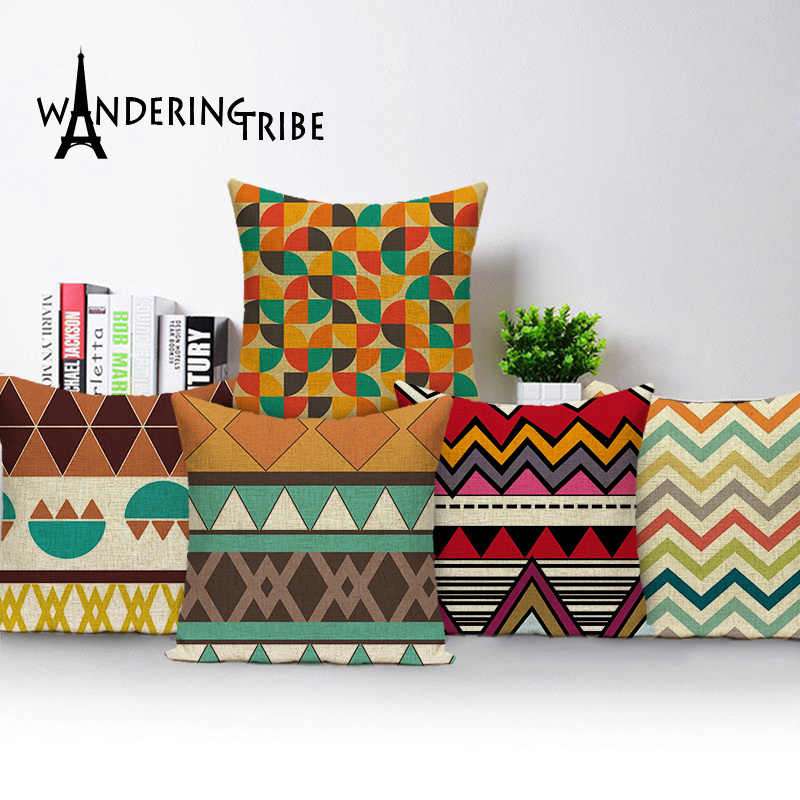 "18x18/"" Abstract Geometric Throw Pillow Case Sofa Cushion Cover Home Decor Lot"
