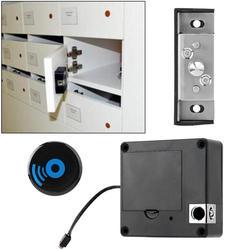 Fechadura 60m zdalna odległość bezkluczykowa elektroniczna blokada do szafki do szuflady blokada wysokiej częstotliwości karta elektroniczna indukcja odblokuj czarny w Zamki do drzwi od Majsterkowanie na