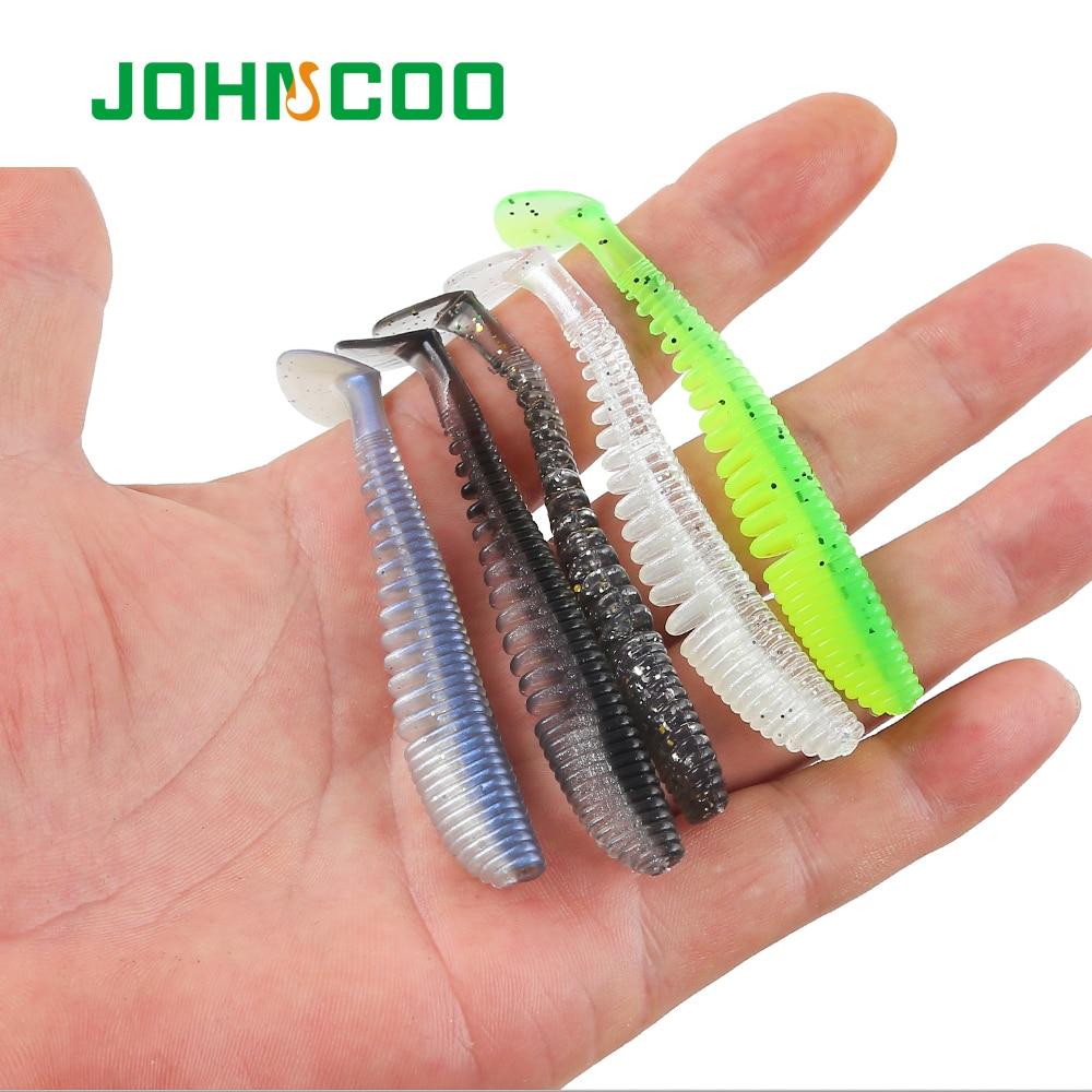 20Pcs Soft Worm Lures Vivid Carp Fishing Baits Swimbaits Earthworm 2 Colors