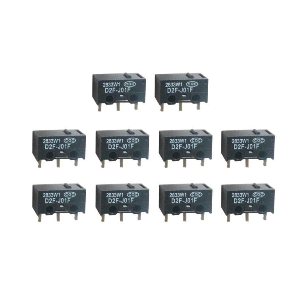 10PCs D2F-J01F Mouse Micro Switch Micro Button Silver Contactor Mouse Button