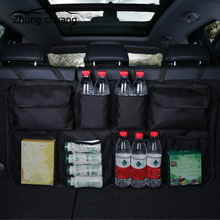 Car Rear Seat Back Storage Bag Multi Hanging Nets Pocket Trunk Organizer Auto Stowing Tidying Interior Accessories Supplies