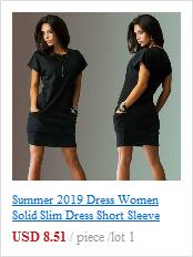 Vestido, verão 2019 vestido mulheres sólido slim