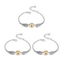 HP Jewelry Silver Copper Golden Snitch Bracelet For Women Children Classic Retro Potter Accessory Bracelets Bangles Wholesale(China)