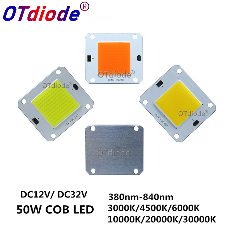 DC12V 32V 50W LED COB Integrated Smart IC Driver High Power 12V COB LED Cold White Warm White Full Spectrum