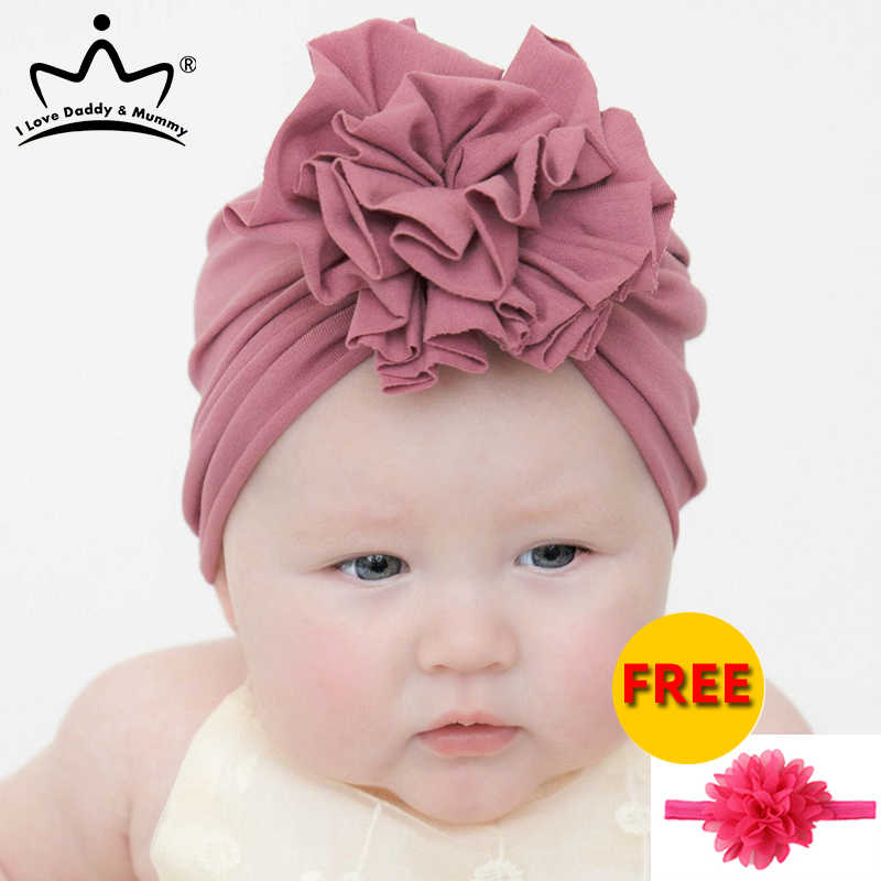 Toddler Elastic Newborn Turban Cap Hats Baby Hat With Infant Girls Beanie Bow