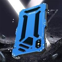 Caixa De Alumínio para O Iphone XS Max XR 8 7 R JUST 6S Mais Salpicos de água/anti poeira/ anti choque Casos de Telefone Tampas de metal com Vidro|Estojos encaixados|Telefonia e Comunicação -