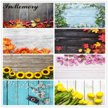 InMemory 87x55 Wooden Board Planks Texture Portrait Flower Photo Background Photocall Baby Shower Food Cake Photography Backdrop
