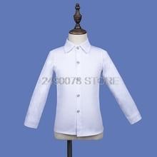 Shirts Teenager Clothing Long-Sleeve School Boys Kids Cotton for Brand Children Camisa