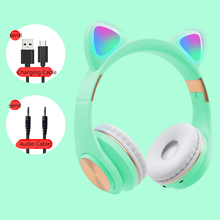 5.0 Wireless Bluetooth! Cat ear,Foldable, Head-mounted ,*plug card, plug cable* computer gaming, sports music headset gamer