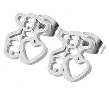 цена heart bear earrings nice top quality earring онлайн в 2017 году