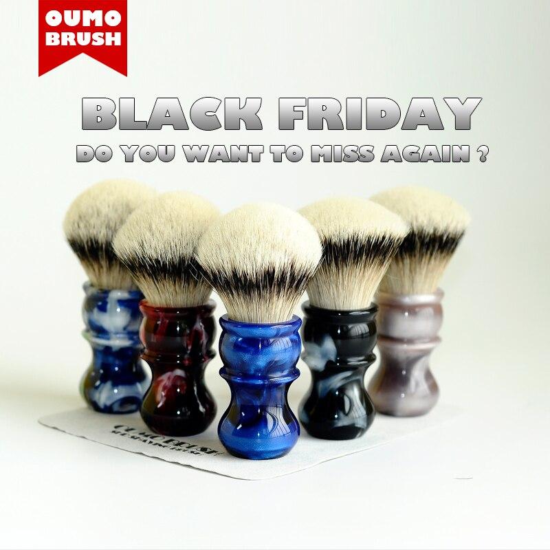 OUMO BRUSH-  Venus Shaving Brush With Silk SHD HMW Silvertip Badger Knots