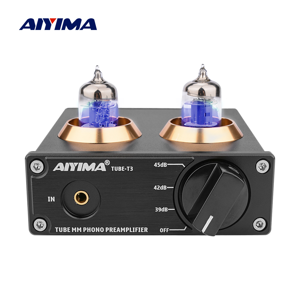 AIYIMA HiFi <font><b>Pre</b></font> <font><b>Amplifier</b></font> Audio Board Vacuum Tube 6J2 Phono Preamp Stereo Phonograph Preamplifier DIY For Power Sound <font><b>Amplifiers</b></font> image