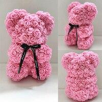 Oso de espuma de jabón de 25cm, oso de rosas Teddi en caja de regalo