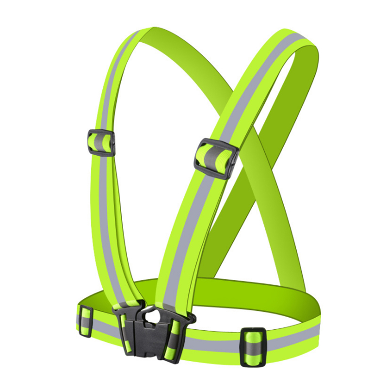 Adjustable Safety Security High Visibility Reflective Vest Gear Elastic Stripes Jacket for Night Running Cycling