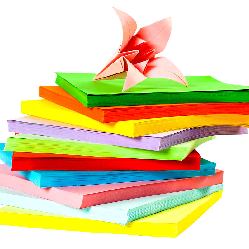 Color Copy Paper A4 80G Color Fluorescence Color Printing Paper Handmade Paper Folding 10 Colors About 100 Sheets/Pack