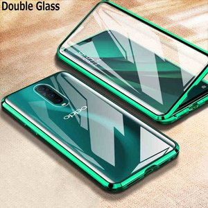 Magnetic Case For Oppo Reno 2Z Z 10X F11 Pro A9X A9 A5 2020 Realme 5 Pro X2 XT Reno 3 4 Double-Side Tempered Glass Metal Cover(China)