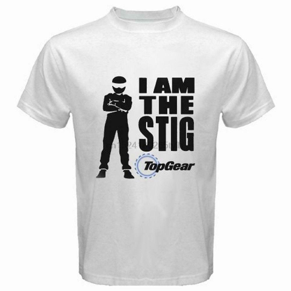 Top Gear TV Show Logo *I Am The Stig Mens Black T-Shirt