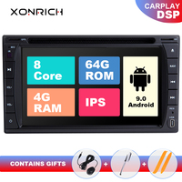 IPS DSP 4G RAM 64GB 2 Din Android 9.0 Car Radio Universal Multimedia NO DVD GPS Navigation PC Stereo Audio Head unit 173x98mm TV