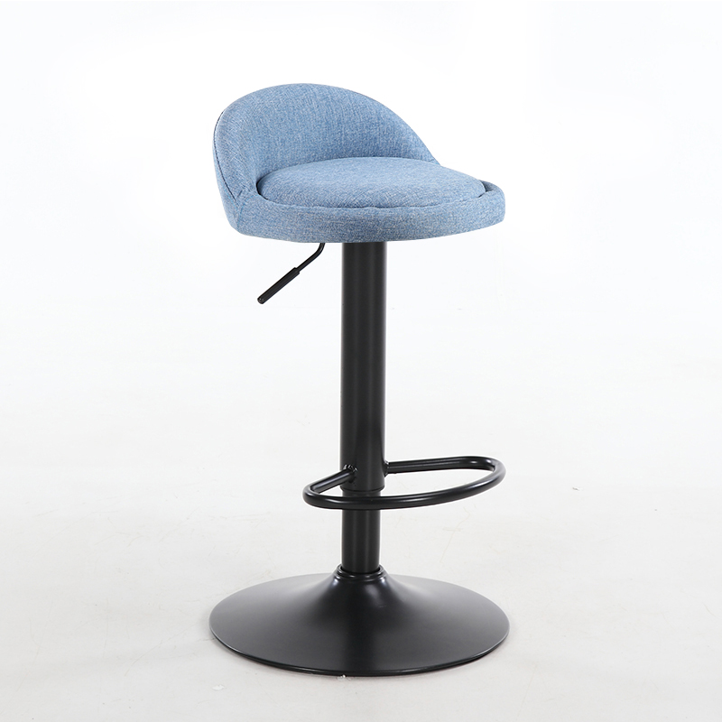 European Style Iron Bar Chair Lift Chair American Retro Bar Chair High Foot Stool Simple Back Chair Package
