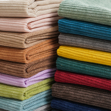 Corduroy Fabric Solid Color Shirt Children's Cotton Jacket Sweater Sofa Velvet Cloth Lining DIY Sewing Brocade Blue Black White