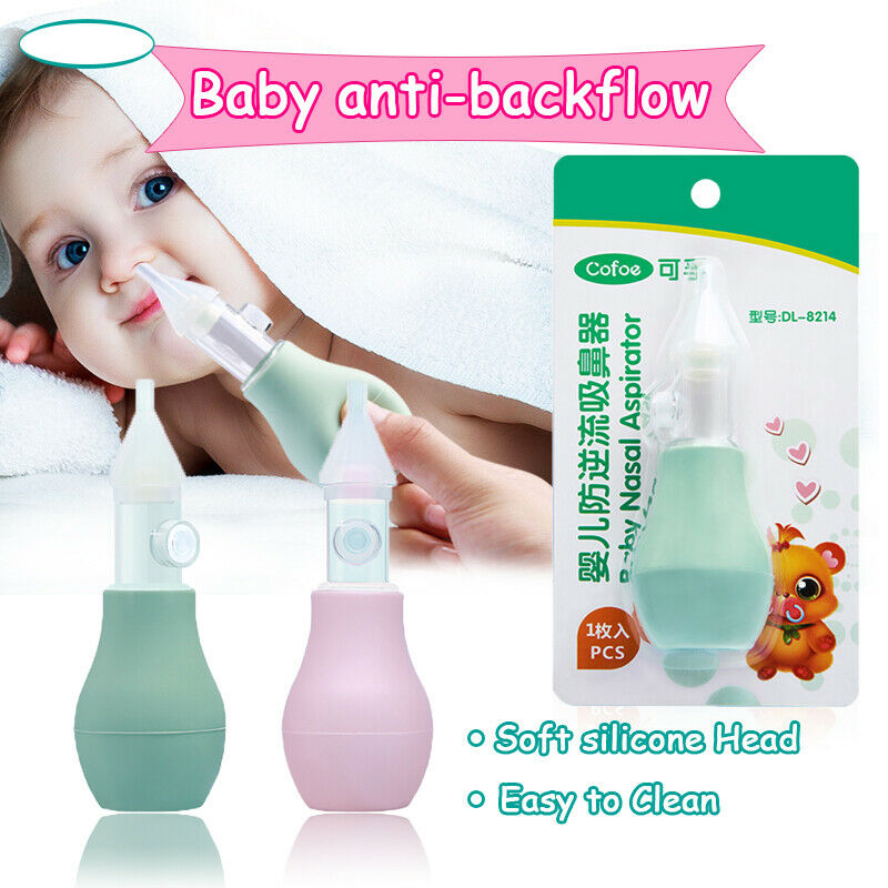 3pcs Infant Baby Soft Nasal Aspirator Vacuum Sucker Nose Mucus Snot Cleaner Pump
