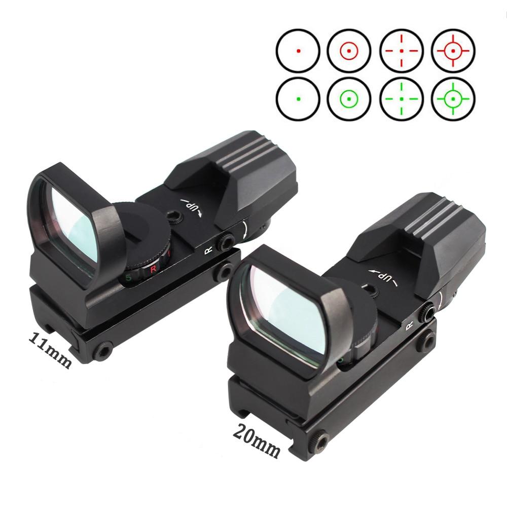 Marotui 11/20 Mm Rail Mount Riflescope Hunting Optics Holographic Red Dot Sight Reflex 4 Reticle Tactical Gun Accessories