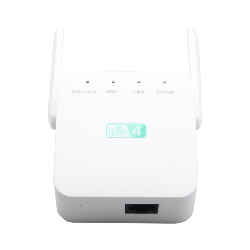 300Mbps Wireless Repeater Wifi Extender Wi-Fi Range Extender Wifi Signal Amplifier 2.4G AP Router 2 Antennas US Plug