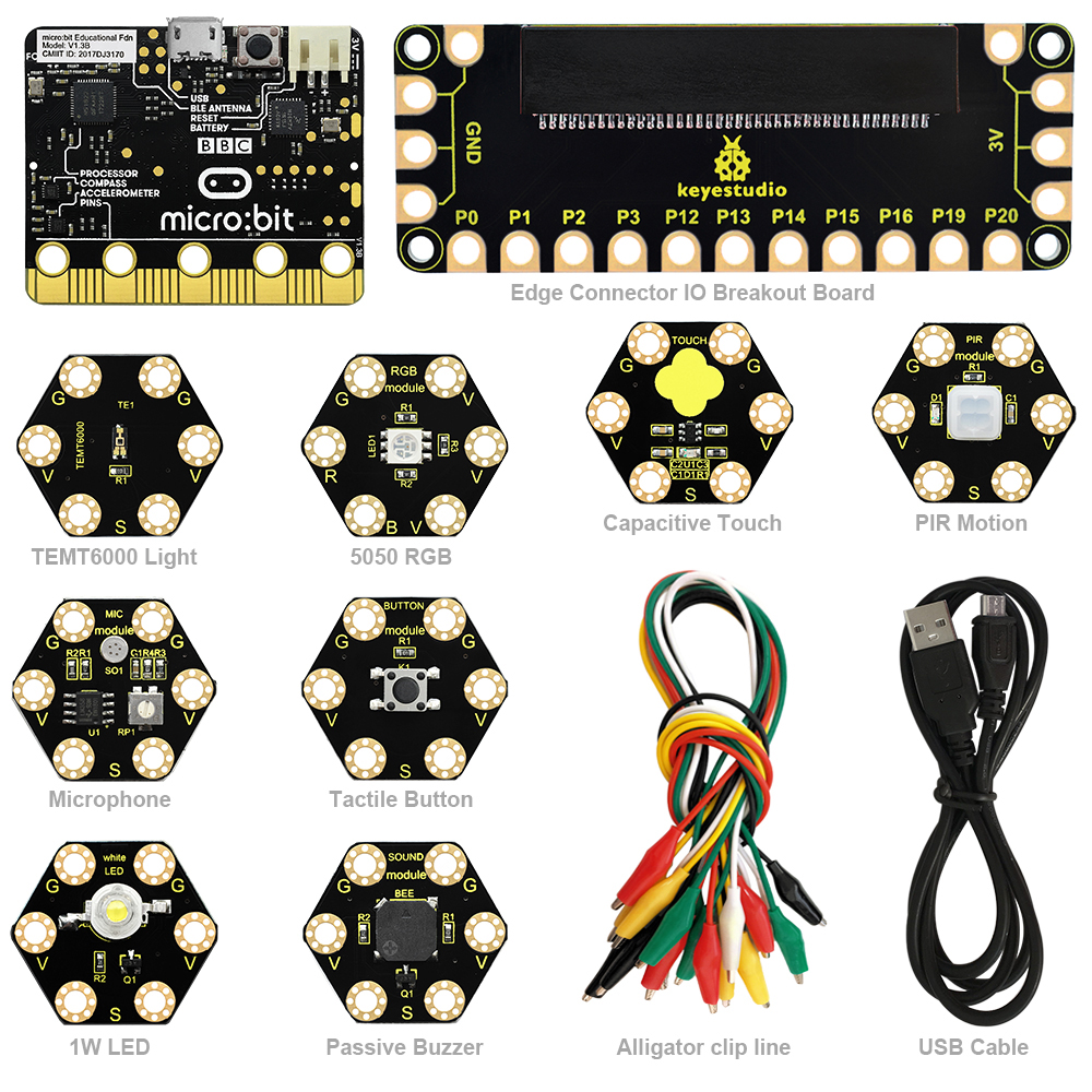 Bit KEYESTUDIO Development Board Electronic Learning Starter Kit for BBC Micro