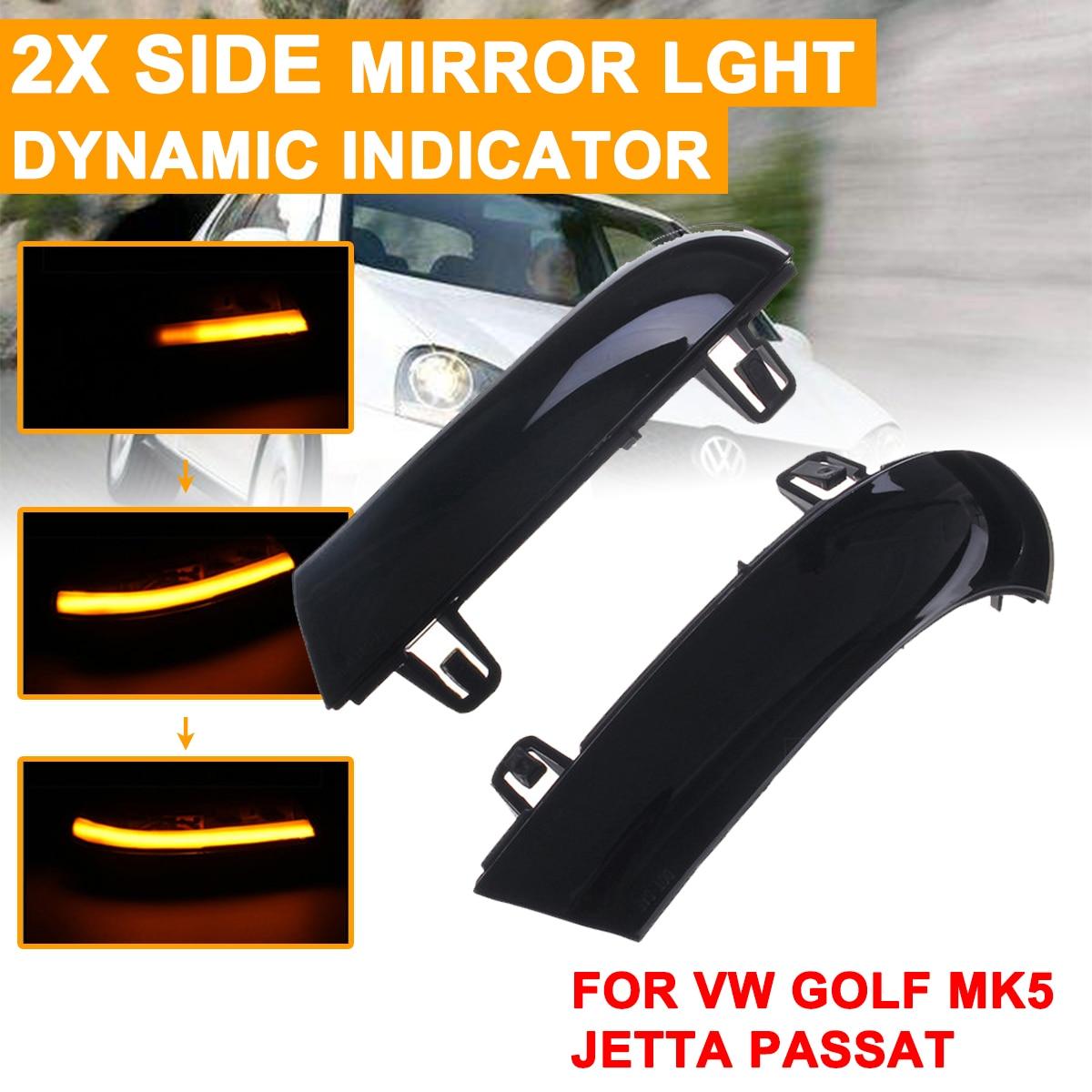 Fog Day Running Lights For Volkswagen Passat B6 for VW Golf MK5 LED Car Daytime Rearview Mirror Dynamic Strobe Strip Turn Lamp