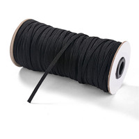 200 Yards Black Elastic Band Polyester Flat Elastic Rope Rubber Band Waist Band Sewing High Stretch Rope DIY Materials