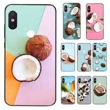 HTxian Fruit Coconut on the beach Soft Rubber Phone Cover for Xiaomi Redmi 5 5Plus 6 6A 4X 7 7A 8 8A 9 Note 5 5A 6 7 8 8Pro 8T 9(China)