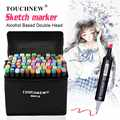 TOUCHNEW 30/40/60/80 Color Markers Manga Drawing Markers Pen Alcohol Based Sketch Oily Dual Brush Pen Art Supplies