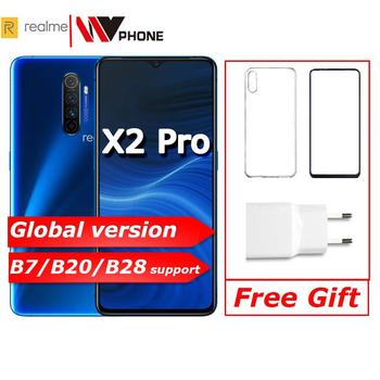 Перейти на Алиэкспресс и купить realme X2 Pro X 2 глобальная версия Мобильный телефон Snapdragon 855 плюс 64MP камера Quad NFC OPPO мобильный телефон VOOC 50W супер зарядное устройство