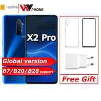 Realme X2 pro X 2 wersja globalna telefon komórkowy Snapdragon 855 plus 64MP Quad Camera NFC OPPO telefon komórkowy VOOC 50W super ładowarka