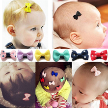 Hairpins Barrettes Ribbon Latch-Clips Decor-Accessories Mini Baby Kids Girl's Bow 10pcs