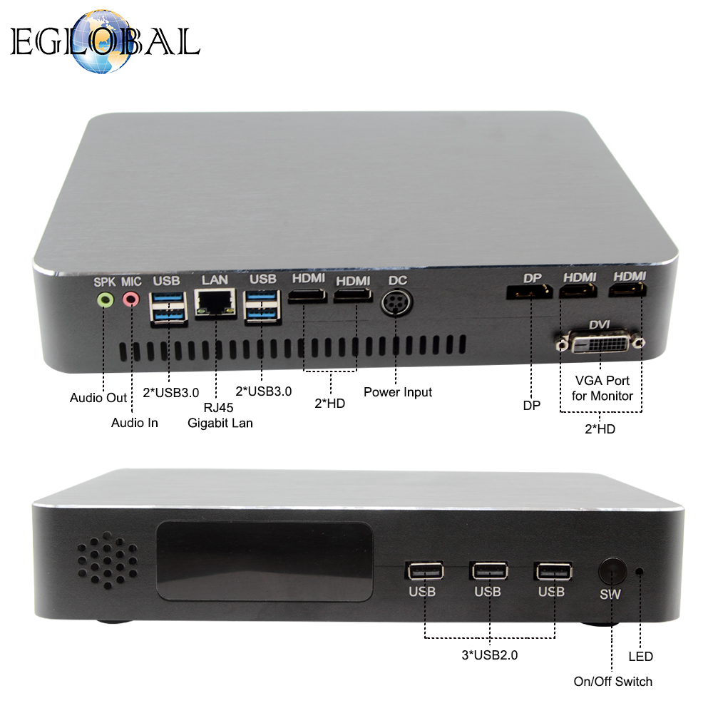 EGLOBAL Dual graphic card VG support 2xDDR4 Memory slot 32GB DDR4 RAM Gaming computer GTX1050 2G/GTX1050TI 4G image