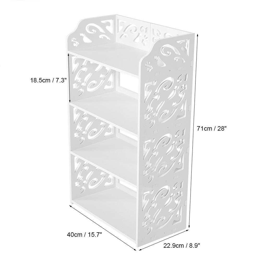 Image 5 - Standing Shoe Rack Simple Multi layers White Hollow Out Shoes Rack Stand Storage Organiser Shelf DIY Shoe Cabinet Home Furniture-in Shoe Racks & Organizers from Home & Garden