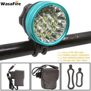 XML-T6 светильник для велосипеда 40000 люмен светодиодный налобный фонарь 16 Светодиодный s велосипедный светильник передний головной светильни...
