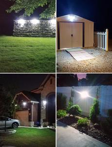 Image 5 - ترقية LITOM 200 LED ضوء الشمس IPX7 مستشعر حركة مضاد للماء الجدار الخفيفة 3 طرق قابل للتعديل و 270 درجة زاوية واسعة مصباح الحديقة