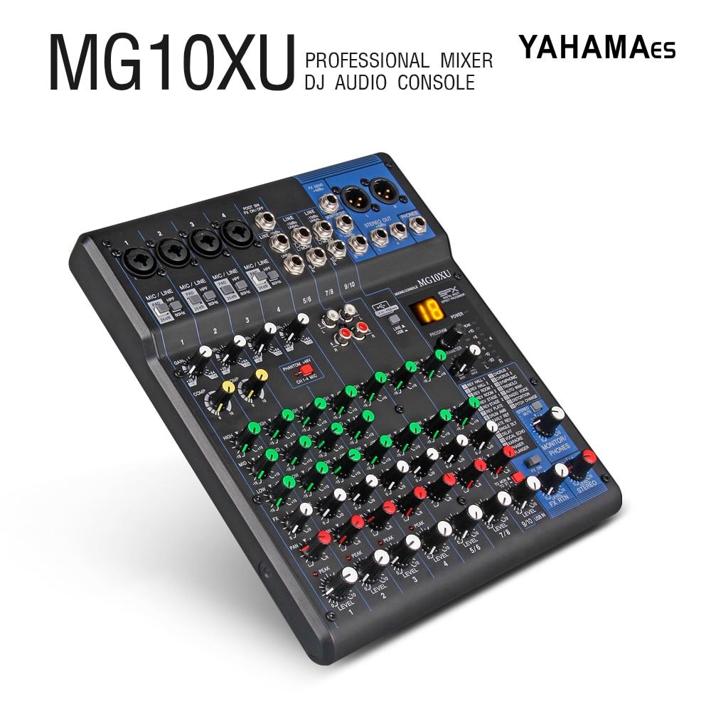 Professional YAHAMA es Audio 10 Channel with 24bit Sound Effects Studio Mixer Audio - DJ Sound Controller Interf