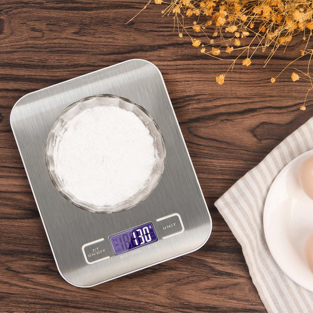 5kg/1g 10kg/1g LCD Digital Kitchen Multifunctional Food Weighing Scale With Bowl