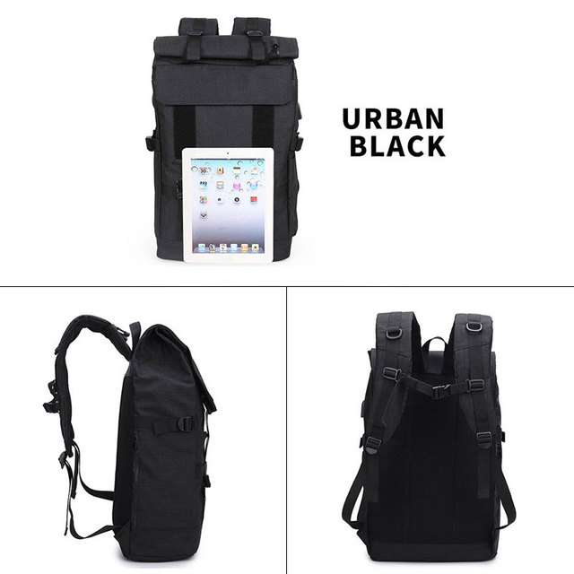 OZUKO New 40L Large Capacity Travel Backpacks Men USB Charge Laptop Backpack For Teenagers Multifunction Travel Male School Bag 4
