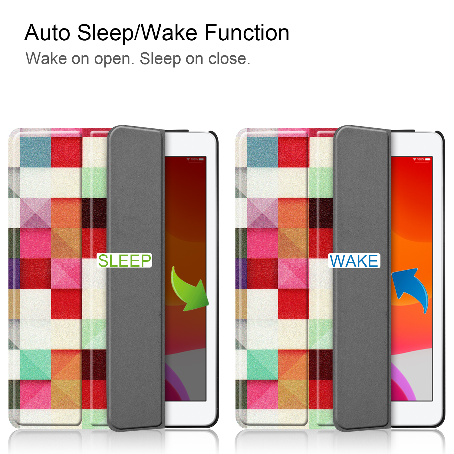 Magnetic Apple Sleep for iPad/8th/Cas A2428/a2429 iPad 8-8th-Generation Case Smart-Cover