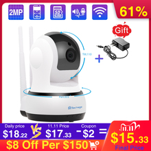 Techage 720P telecamera IP Wireless sicurezza domestica CCTV videosorveglianza Wifi PT telecamera Baby Monitor visione notturna Audio bidirezionale P2P