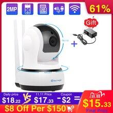 Techage 720p câmera ip sem fio de segurança em casa cctv câmera de vigilância de vídeo wi fi pt monitor do bebê visão noturna áudio bidirecional p2p